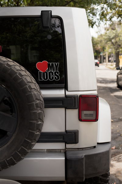 Love My Locs Car Decal Sticker