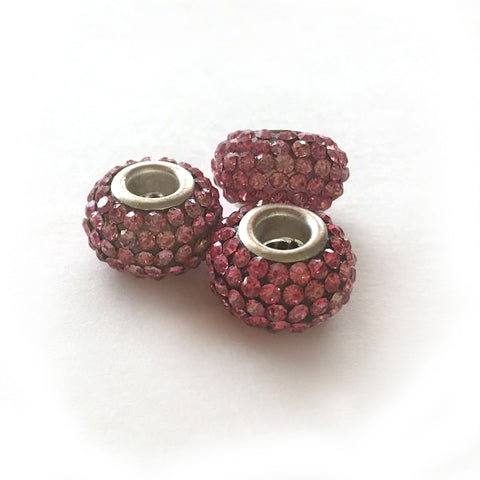 """Pink Ice"" Crystal Loc Beads - Loccessories™"