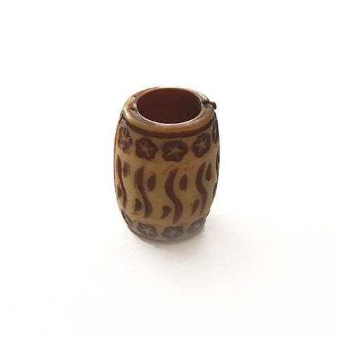 """Tan Drum"" Beats Loc Bead - Loccessories™"