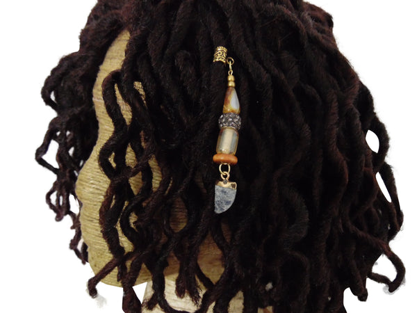 White Tiger Tooth Dreadlock Jewelry - Loccessories™