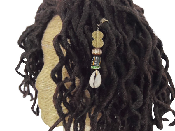 Krobo Cowrie Shell Dreadlock Jewelry