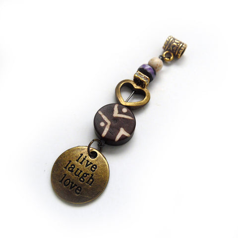 Live Laugh Love Dreadlock Jewelry - Loccessories™