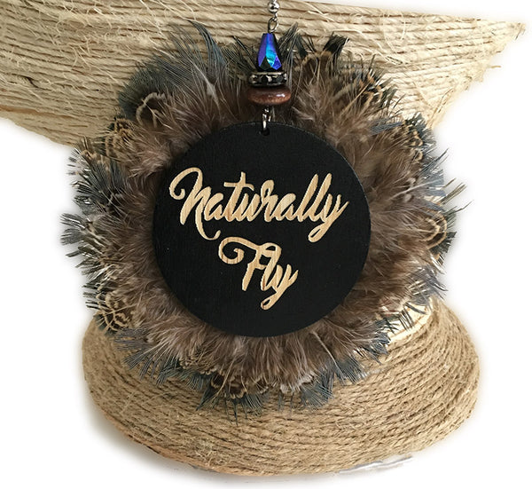 Naturally Fly Blue Feather Statement Earrings - Loccessories™