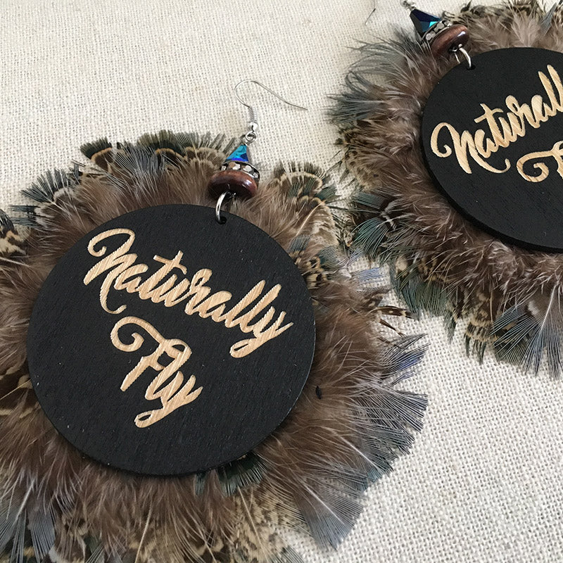 Naturally Fly Blue Feather Earrings - Loccessories™