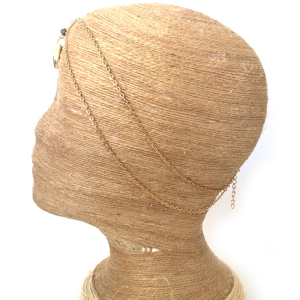 Cowrie Gold Hair Jewelry Chain