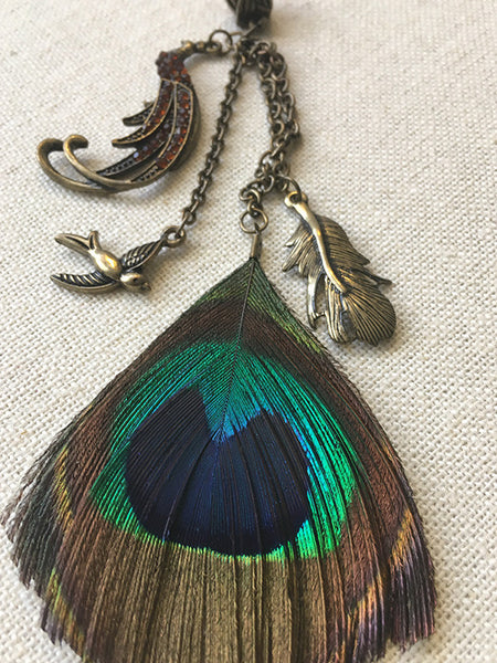 Peacock Plume Loc Jewels