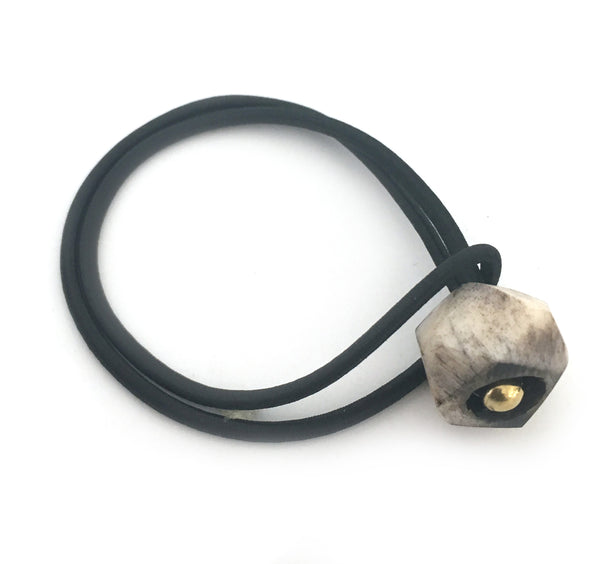 Gray Geode Etched Bone Loc Tie - Loccessories™