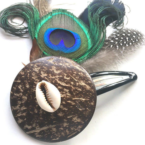 Peacock Hair Flower - Pandora Cocoshell - Loccessories™