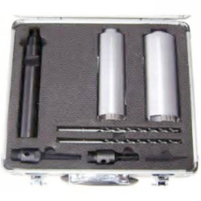 Diamond Core Drill Bit Set Rated For Brick Bonus Diamond Pen Sharpener Included