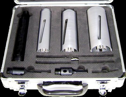 Diamond Core Drill Bit Set Rated For Concrete Bonus Diamond Pen Sharpener Included