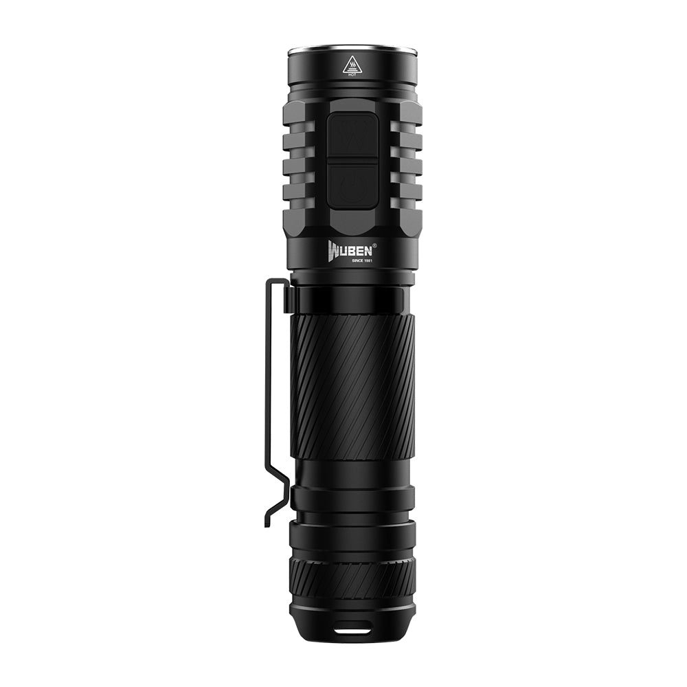 Flashlight Torch Twin Pack by WUBEN 1300 Lumens , 135 Metre Distance, 3* CREE Micro USB Charge
