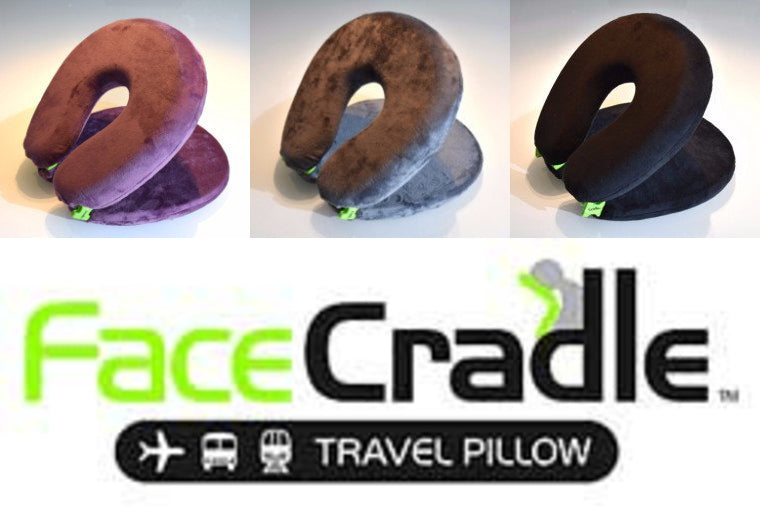 FaceCradle Travel Pillow Available in 3 Colours