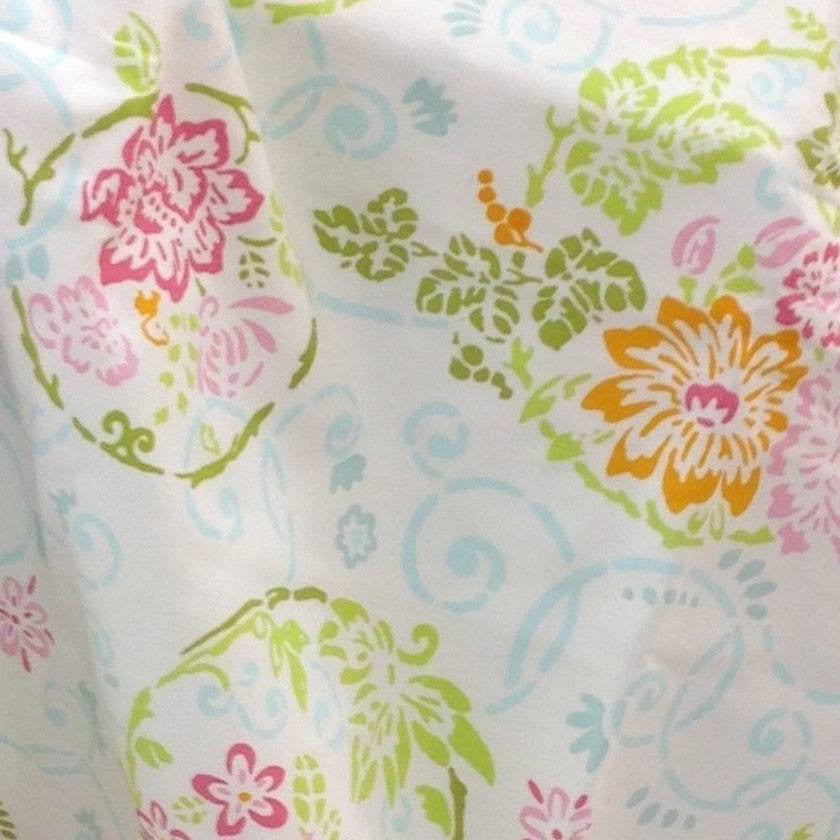 Ambience Floral Fabric Shower Curtain - Newport Home Interiors