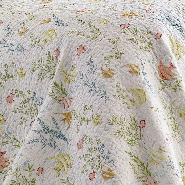 Laura Ashley Fish Frolic Underwater Garden Quilt Set Newport Home Interiors