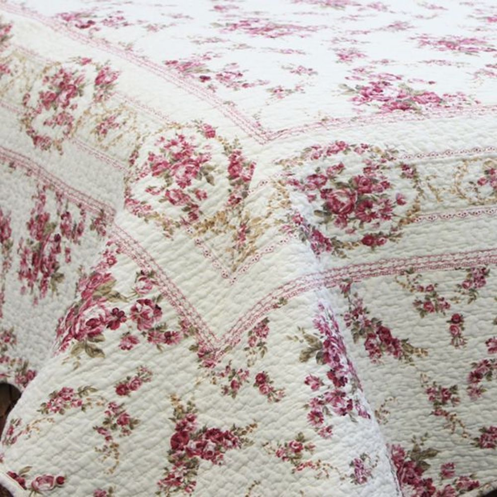 Rose Garden Vintage Chic Floral Quilt Set Newport Home Interiors