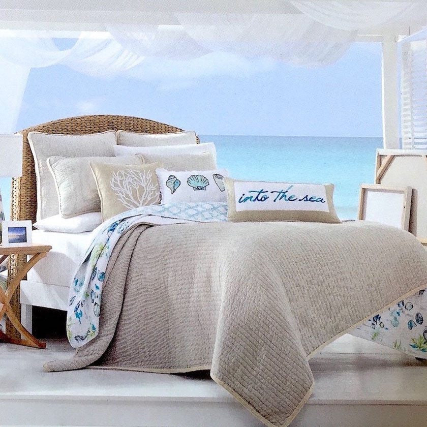 Relatively Island Cove Tropical Seaglass Ocean Life Quilt Set - Newport Home  RM23