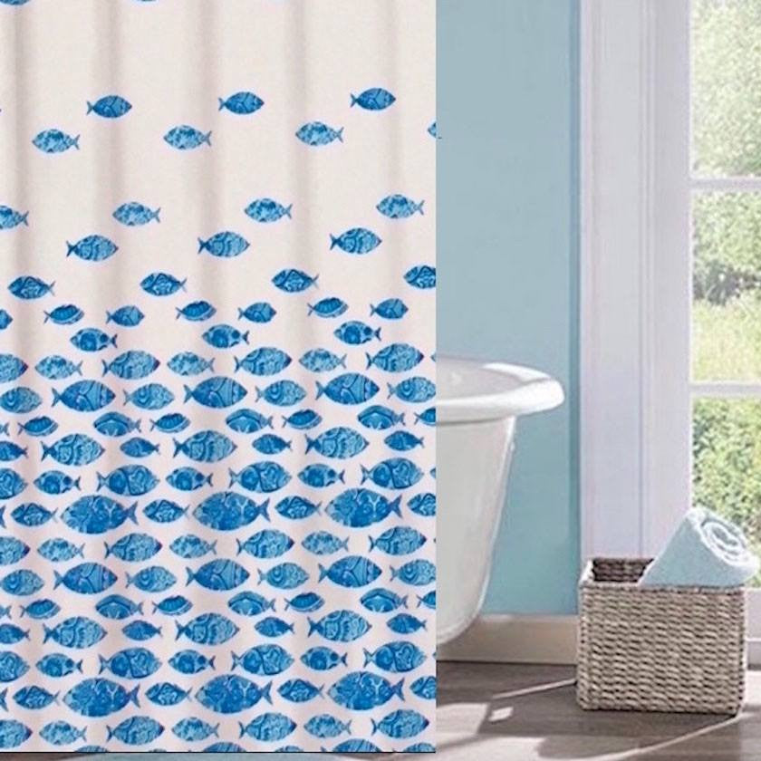 Etonnant Shower Curtains   Tropical Artistic School Of Swimming Fish   Fabric Shower  Curtain