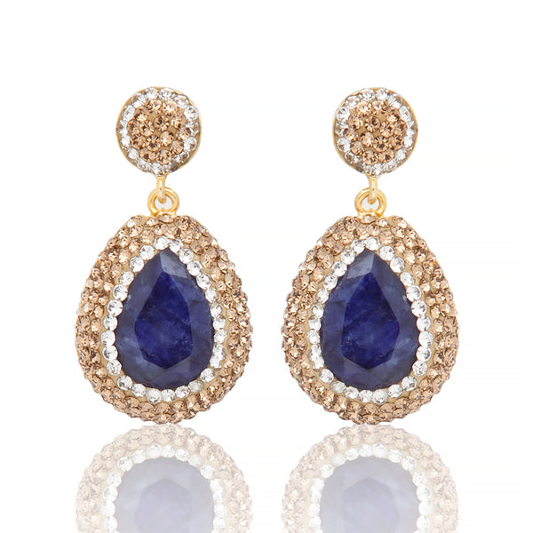 Sarah Stretton Aurora Earrings in Saphire