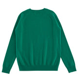 Aleger Cashmere Crew Neck Sweater in Emerald