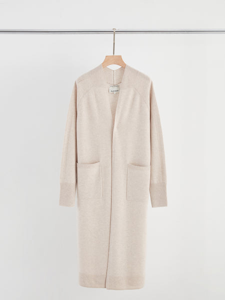Aleger Mid Length Cardigan in Oat