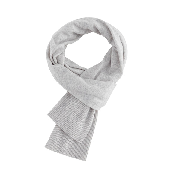 Aleger Cashmere Scarf in Light Grey