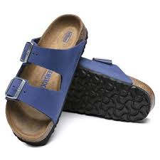 Birkenstock Arizona SFB Azure Blue Nubuck Leather