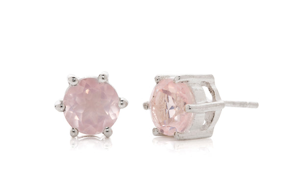 Harpers Jewellery Rose Quartz 3.5ct Stud Earingss