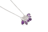 Harper Jewellery Brazilian Amerthyst Faceted Marquise Pendant 5x10mm