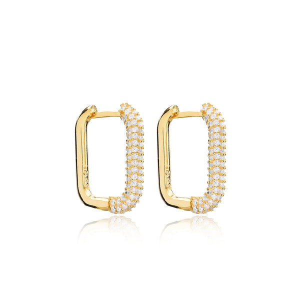 Sarah Stretton Sabine Hoop Earrings in Gold
