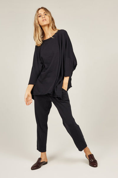 Primness Cozy Twisty Pant in Black