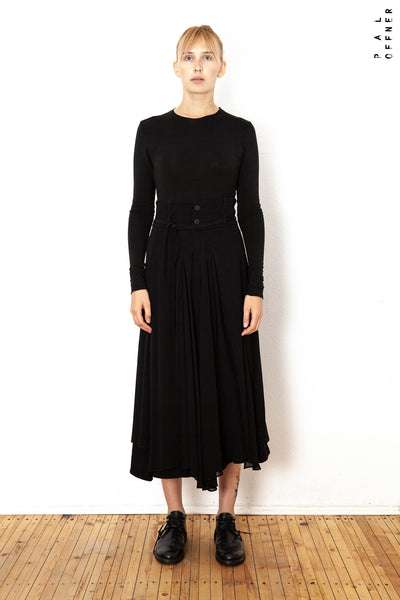 Pal Offner Circle Skirt in Black