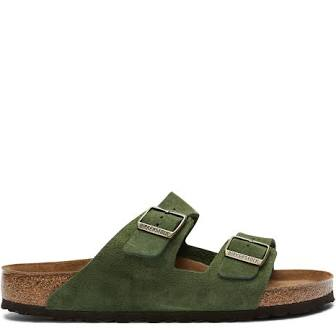 Birkenstock Arizona Green Suede