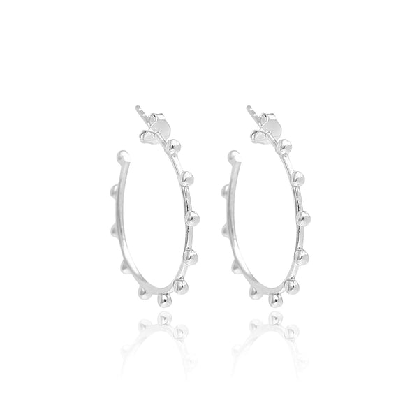 Sarah Stretton Halo Hoops Petite in Silver