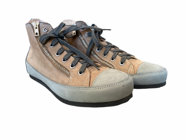 L'Ecologica Taupe and Grey High Tops