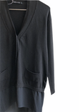Transit Par Such Long Black Long Cardigan