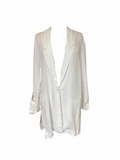 Transit Par Such Cupro White Blazer in White