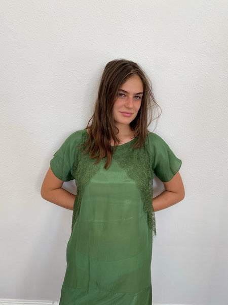 Rabens Saloner Kora Dress in Green