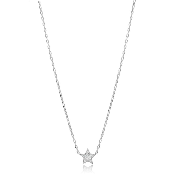 Sarah Stretton Cosmic Star Necklace in Silver