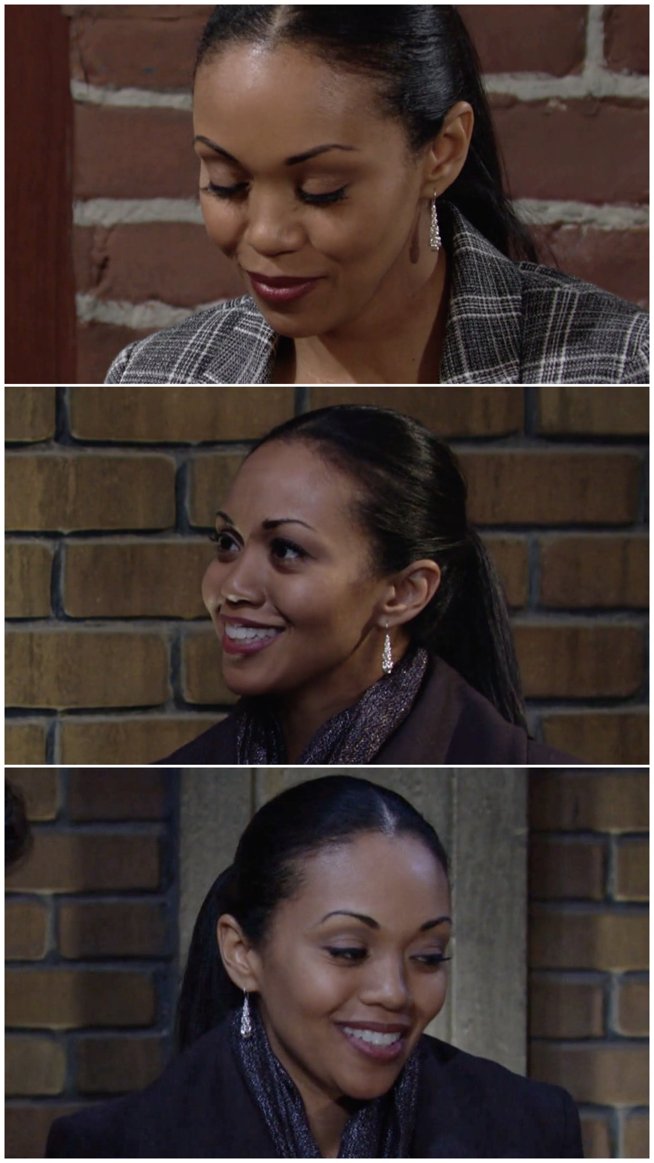 collage of femailler short drop earrings on the young and the restless