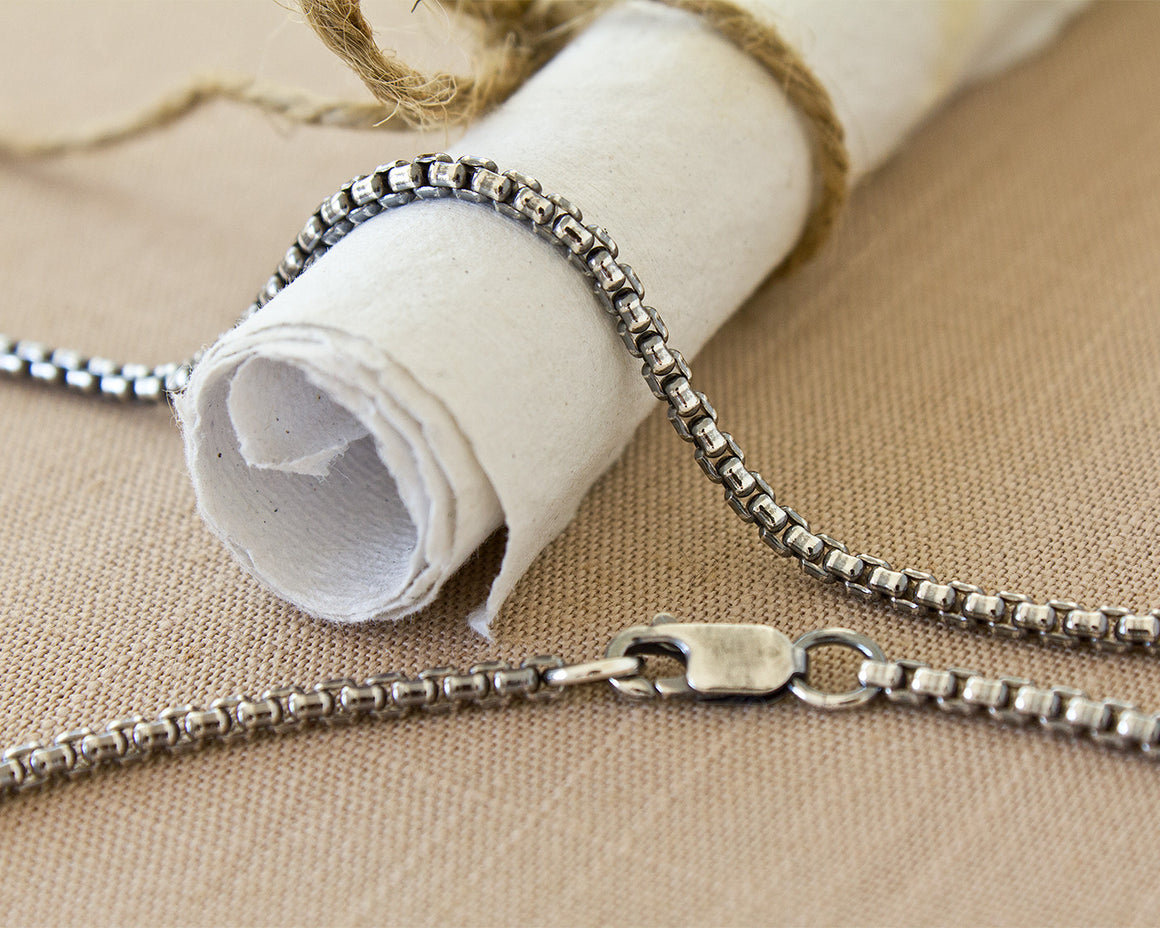 2.6mm Argentium Silver Rounded Box Chain