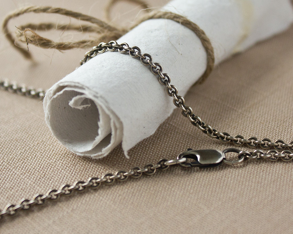 2.8mm Argentium Silver Cable Chain