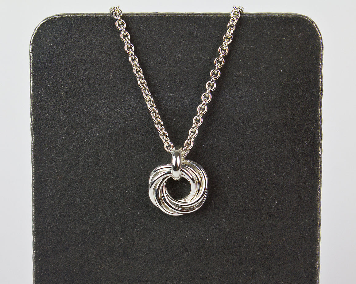 Mother's Nest of Six Chainmaille Pendant Necklace