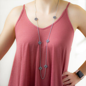 Long Celestial Station Necklace - Femailler