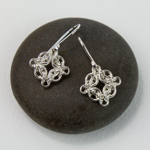 Petite Celestial Fused Chainmaille Drop Earrings - Femailler