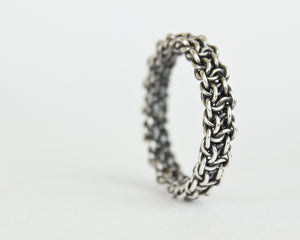 Fused Bramble Chainmaille Band Ring - Femailler