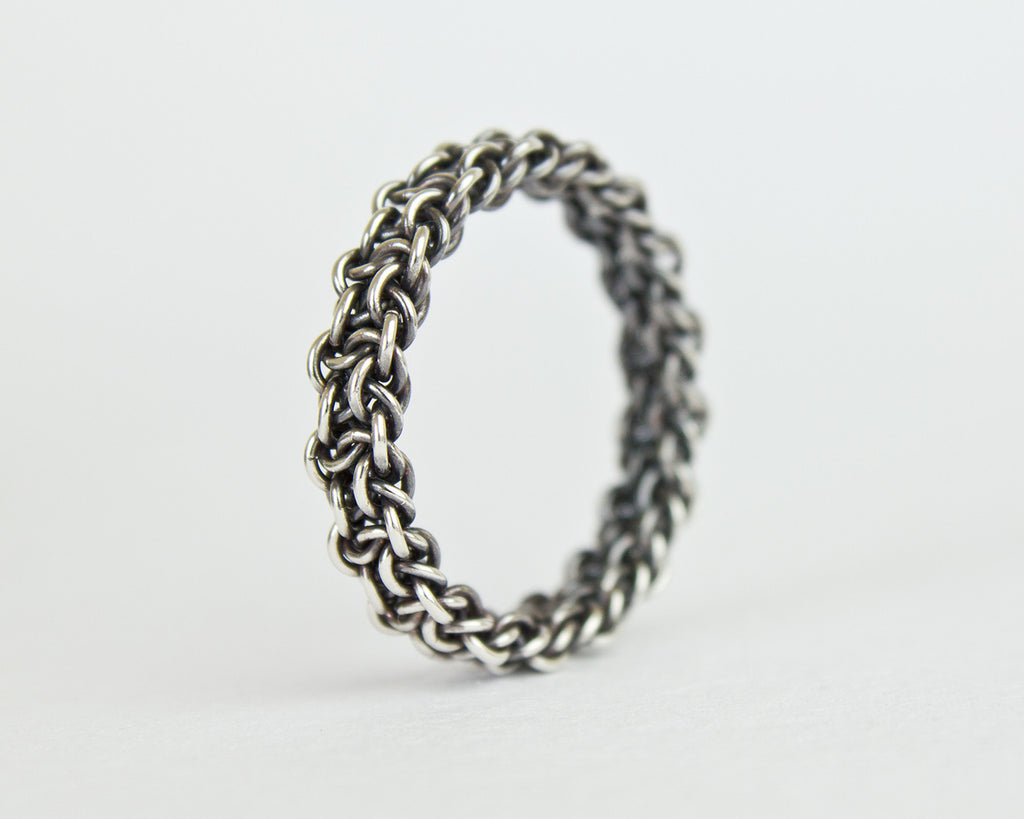Fused Bramble Chainmaille Band Ring