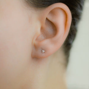 Petite Single Cubed Post Earrings - Femailler