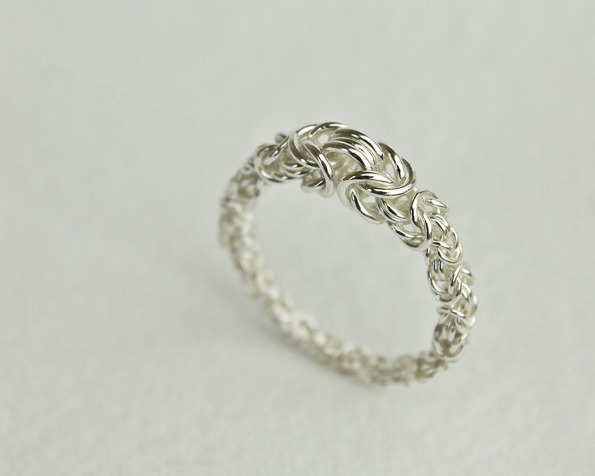 Fused Byzantine Chainmaille Art Ring
