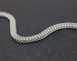 Dainty Flat River Chainmaille Chain Bracelet - Femailler