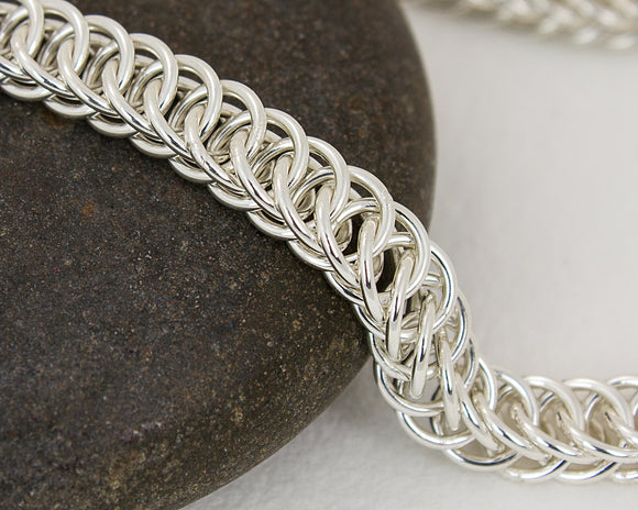 Dainty Flat River Chainmaille Chain Bracelet